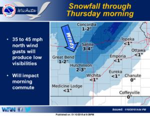Winter Storm Warning for central Kansas Thursday morning