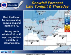 Winter Weather Advisory late Wednesday night into Thursday morning