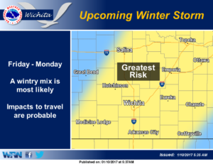 Icy weather conditions possible this weekend