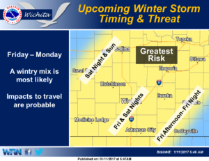 Winter storm expected this weekend