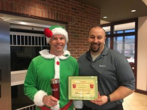 Sam Francisco is presented with his Bank VI Hero of the Week