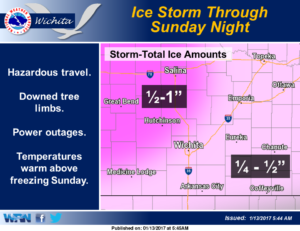 Friday morning update  on ice storm