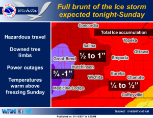 Saturday morning update on ice storm forecast