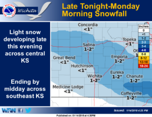 More snow on the way Sunday night into Monday morning