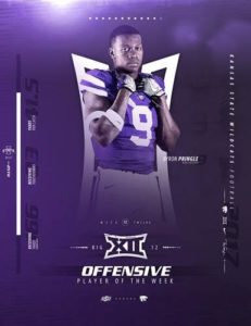 K-State's Pringle, Thompson Named Big 12 Players of the Week