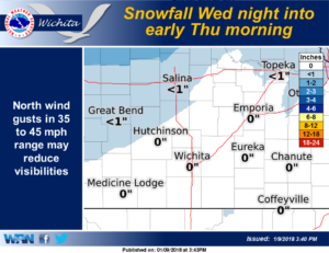 Snow and cold to move in late Wednesday night