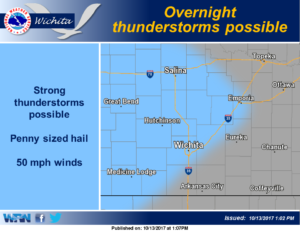 Strong storms possible overnight Friday into Saturday