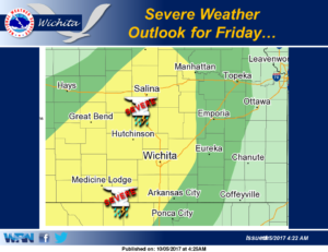 Severe weather possible Friday along with heavy rain