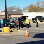 At least one person hurt in three vehicle crash Sunday morning