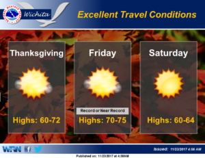 Excellent  Thanksgiving holiday weather