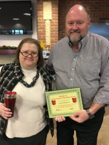 Leslie Eikleberry is Presented With Her BANK VI Hero of the Week Award