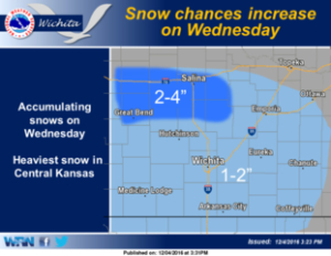 Accumulating snow likely on Wednesday