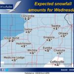 Wednesday snowfall amounts reduced