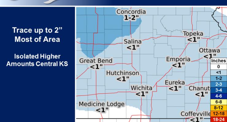 Latest snowfall forecast for Wednesday
