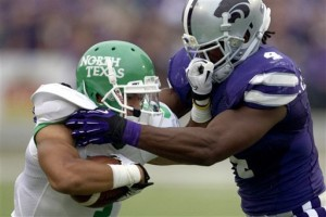 No. 15 K-State eases past pesky North Texas, 35-21