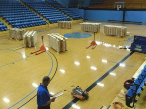 New floor going in at Barton County