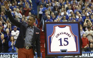 Kansas raises Chalmers' jersey to AFH rafters