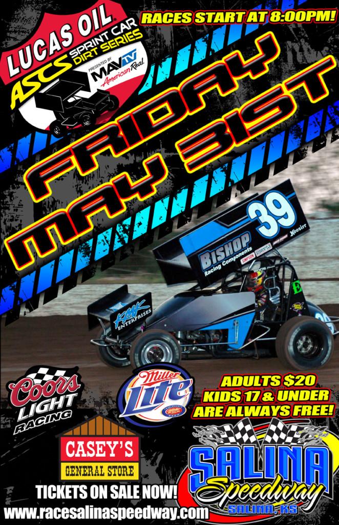 Lucas Oil ASCS National Tour Sprint Cars Square Off Tonight at Salina Speedway