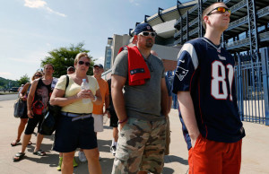The Patriots allowed fans to trade in their Aaron Hernandez jerseys for any other Pats jersey. Michael Dwyer/AP