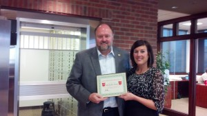 Michelle Peck Receives Hero of the Week Award from Bank VI