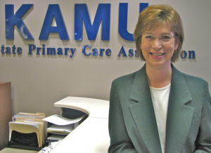 Cathy Harding, executive director of the Kansas Association for the Medically Underserved.- Photo KHI News