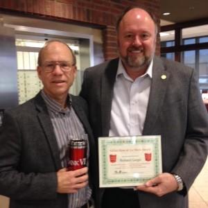 Tom Wilbur Presents Richard Gargis with His Hero of the Week Award!