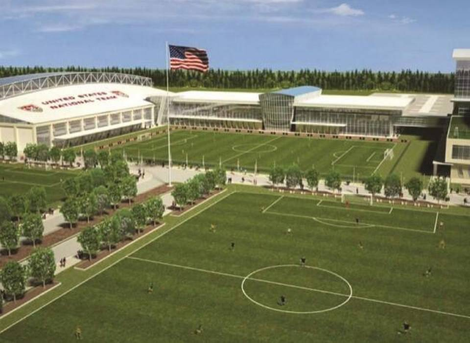Artist rendering of Soccer Training Center.