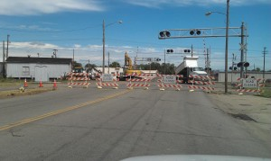 8-30 9th RR crossing repairs