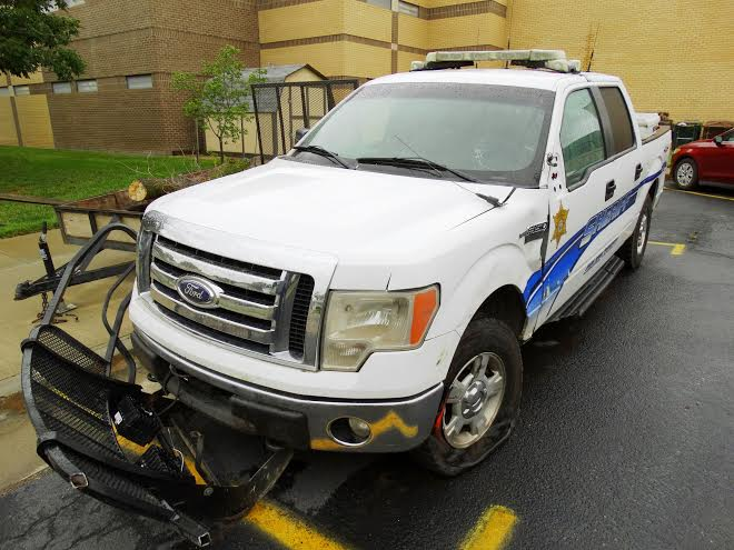 Sheriff's truck involved in Friday's accident