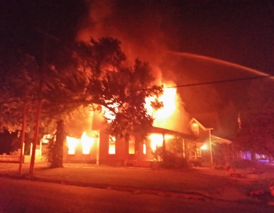 Monday morning fire in Abilene