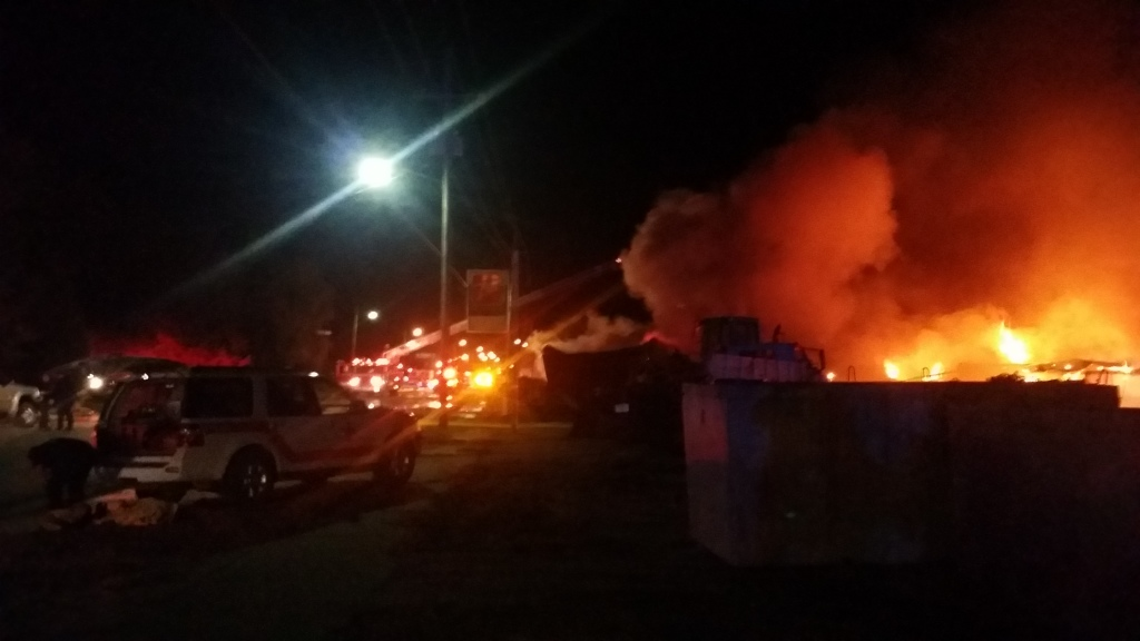 Friday night fire at the former Flamingo motel in Salina