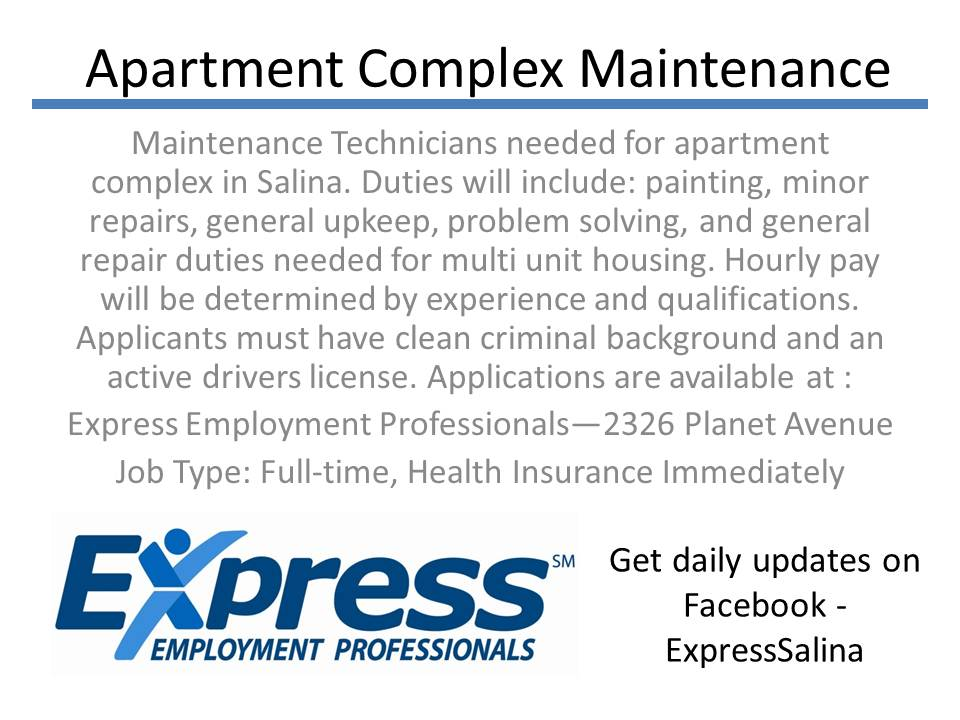 Apartment Complex Maintenance