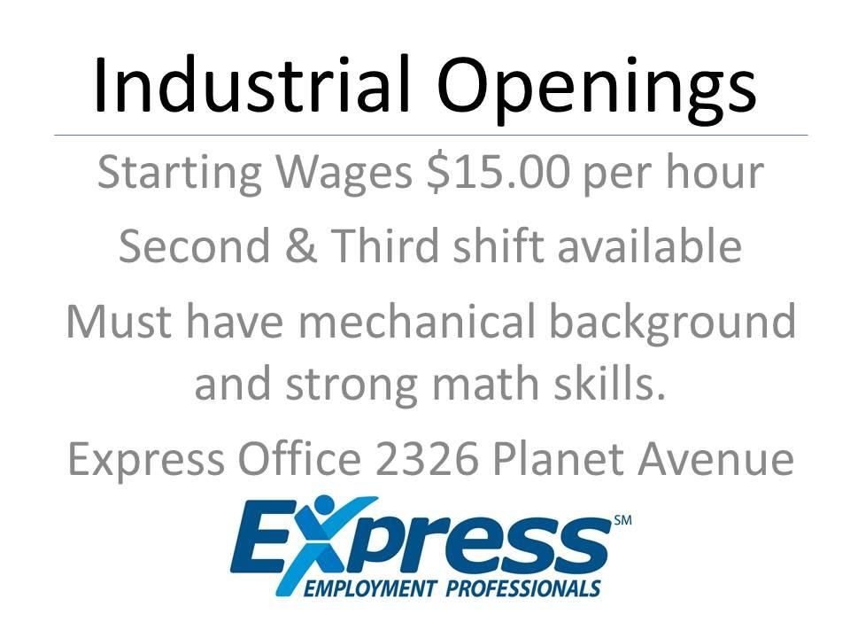 Industrial Openings