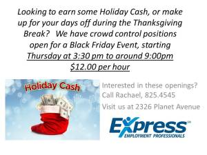 Looking to earn some Holiday Cash, or