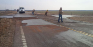 Friday morning spill on K18- KHP photo