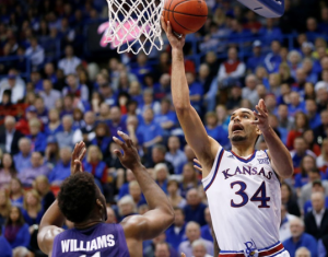 Perry Ellis led the Jayhawks on Saturday- photo KU Athletics