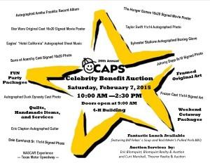 2015 CAPS Celebrity Auction Image_Celebrity Items Promotion