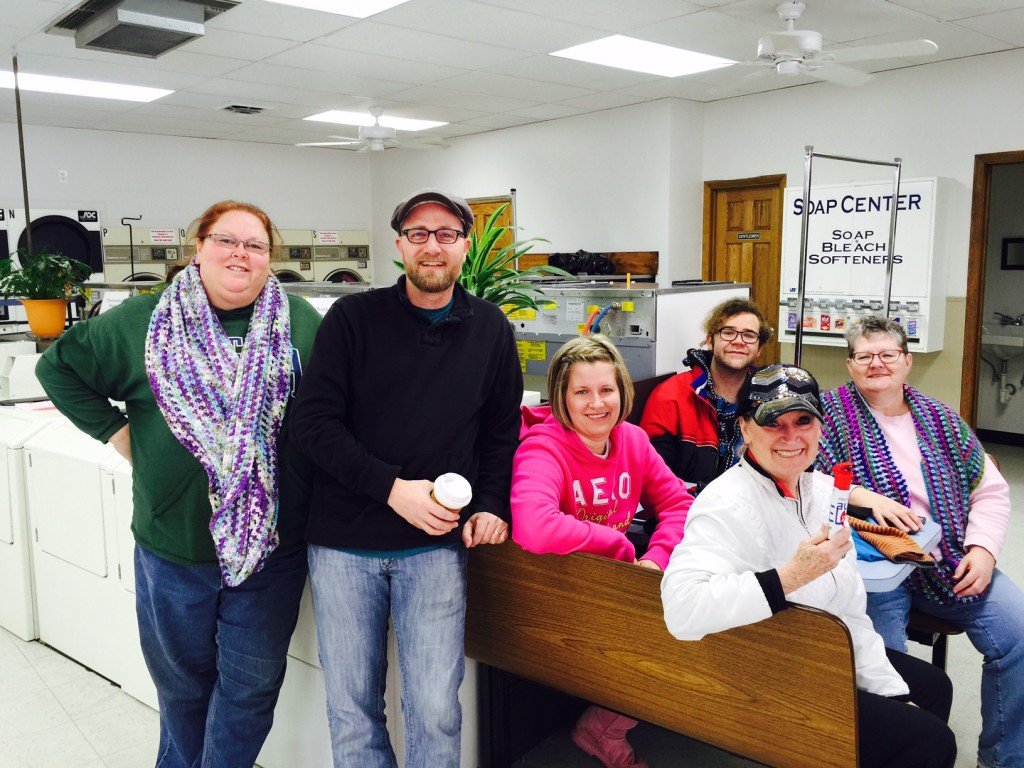 Pastor Andy Houltberg with Volunteers for Laundry Love