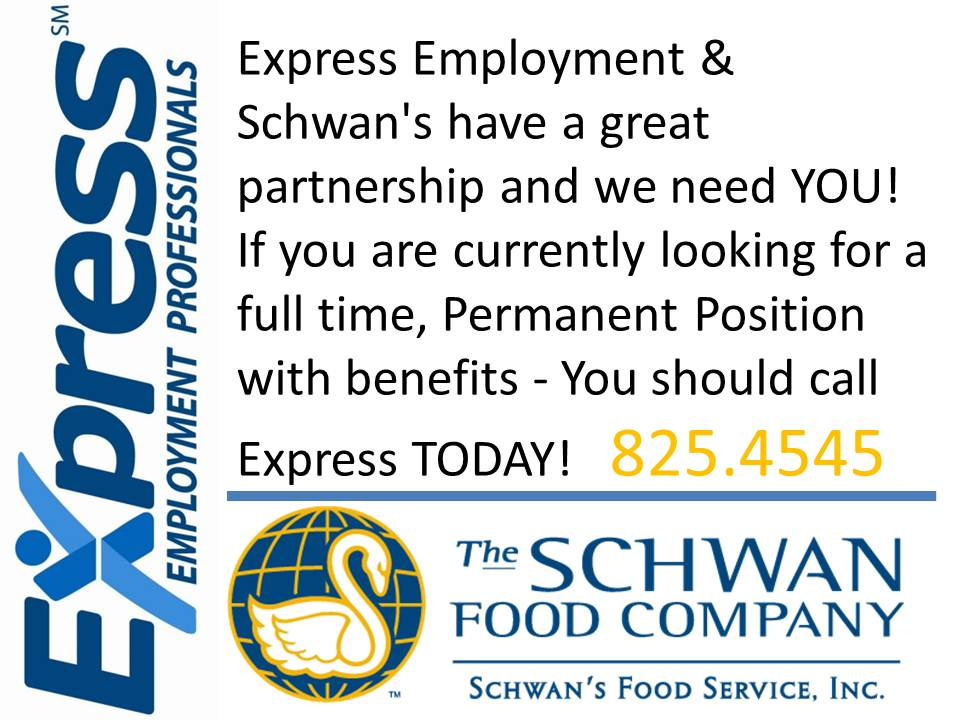 Express Employment & Schwan's have a great partnership