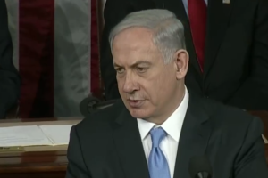 Netanyahu speaks to a join session of Congress on Tuesday