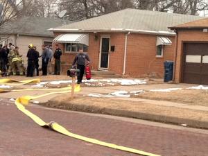 FIre crews on the scene of Monday's fire in Hutchinson