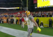 Nelson scores a Touchdown during the Pro Bowl