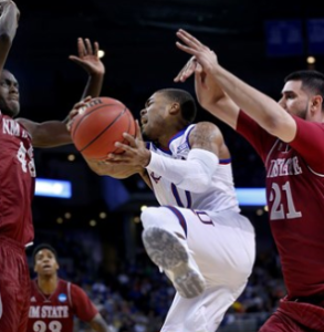 Frank Mason had 17 pts against New Mexico State. photo KU Athletics