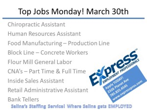 Top Jobs Monday! March 30th
