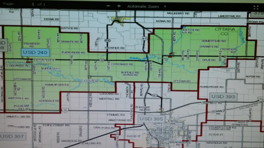 USD 240 boundary map