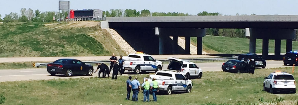 KHP making an arrest after Tuesday's high-speed chase on I-70 near Salina