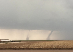 National Weather Service photo of the Friday night tornadoes in Scott County