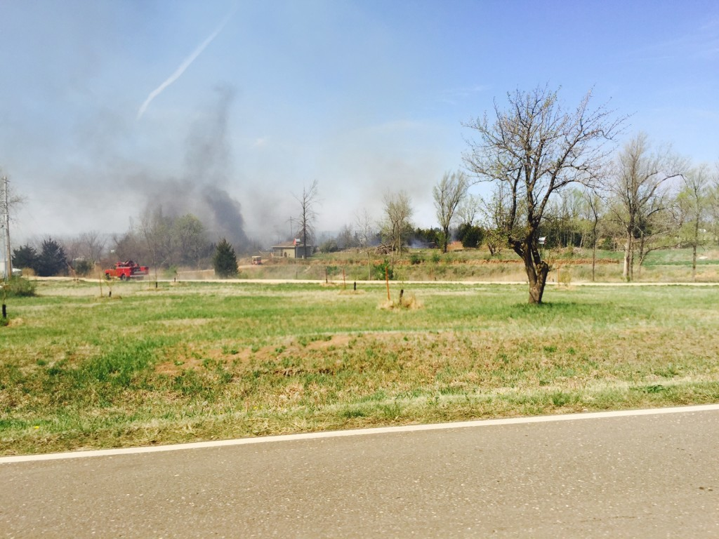Friday fire near Holmes Road and Ashley on Friday in Saline County