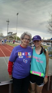 Marysa Bradshaw with her Grandmother
