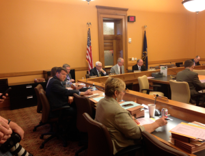 Photo by Andy Marso Members of the House Taxation Committee, including Topeka Republican Lane Hemsley, left, began talks Thursday on a tax plan to end the 2015 session.